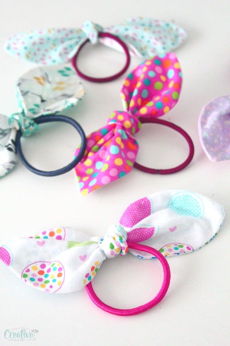 Fabric hair ties