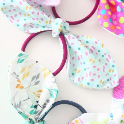 Sew these adorable, easy and quick knotted hair ties in less than 10 minutes!