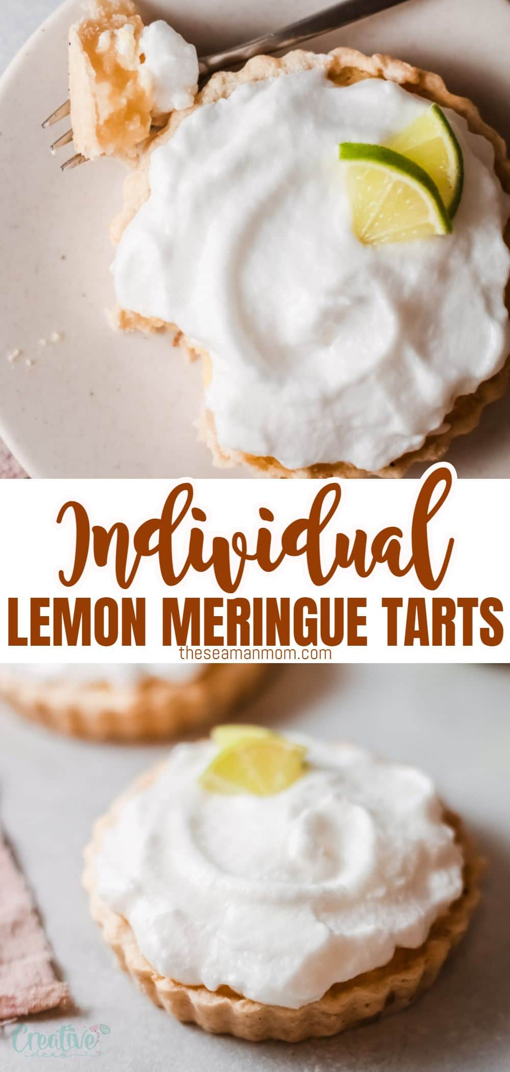 These mini lemon meringue tarts are zesty and creamy! Made with a delicate and buttery pie crust and stuffed with an incredibly delicious lemon cream filling, these mini lemon tarts are topped with an airy meringue and fresh lemon slices. Serve them anytime you are craving a light dessert! via @petroneagu