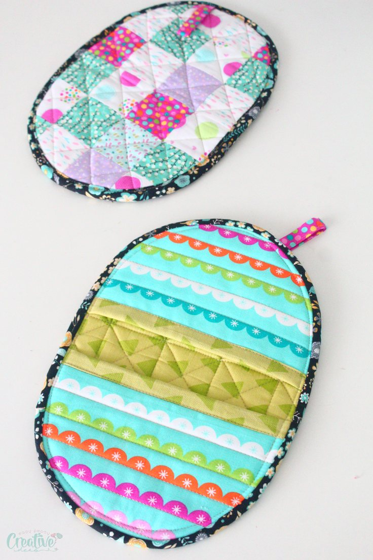 Pot holders with pockets