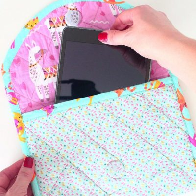 Super easy and quick quilted tablet case you need to try today