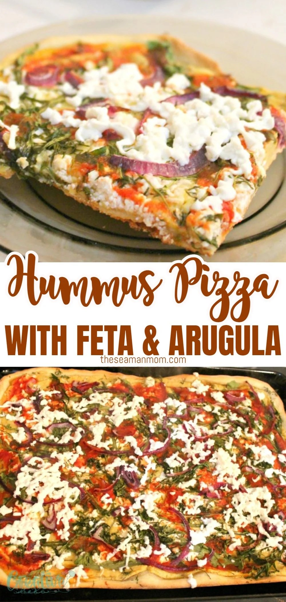 Looking for a vegetarian pizza recipe that easy to make at home? This delicious hummus pizza uses healthy, delicious ingredients and comes together in no time! via @petroneagu