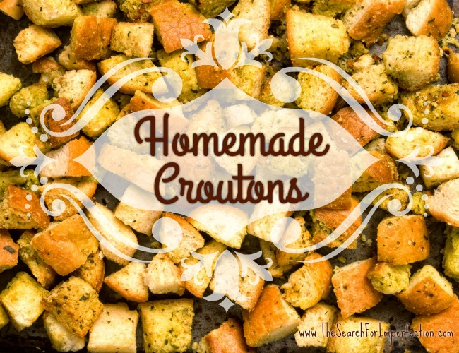 how to make croutons using stale bread