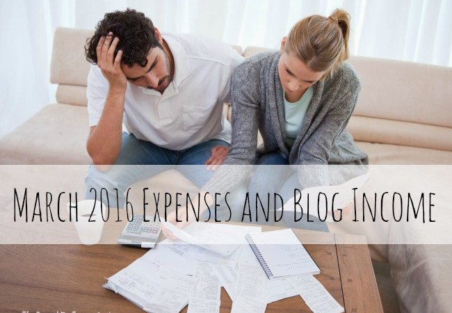 March 2016 Expenses and Blog Income