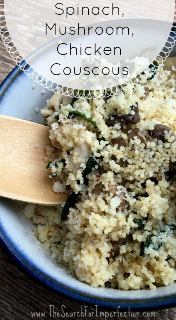 Spinach Mushroom Chicken Couscous With Parmesan