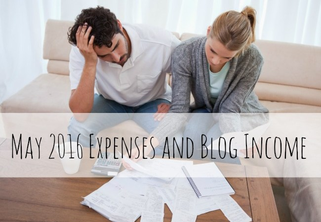 May 2016 Expenses and Blog Income