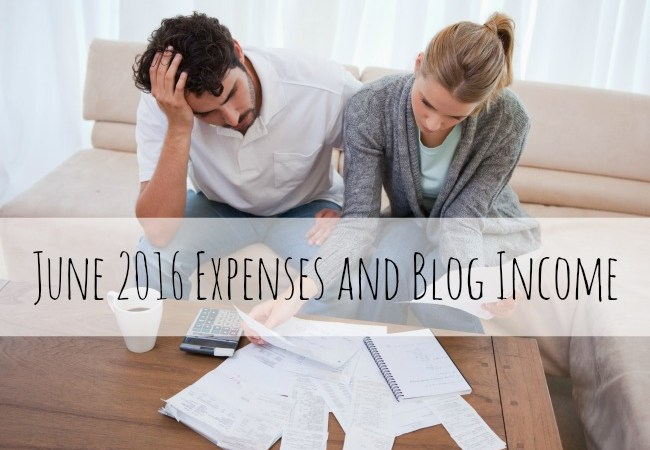 June 2016 Expenses and Blog Income