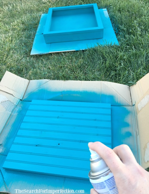 Spray Painting the Jewelry Box
