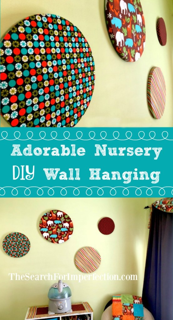 Super easy and affordable DIY wall hangings for a baby's nursery.