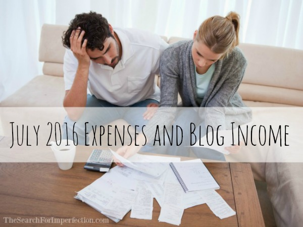 July 2016 Income and Blog Expense Report