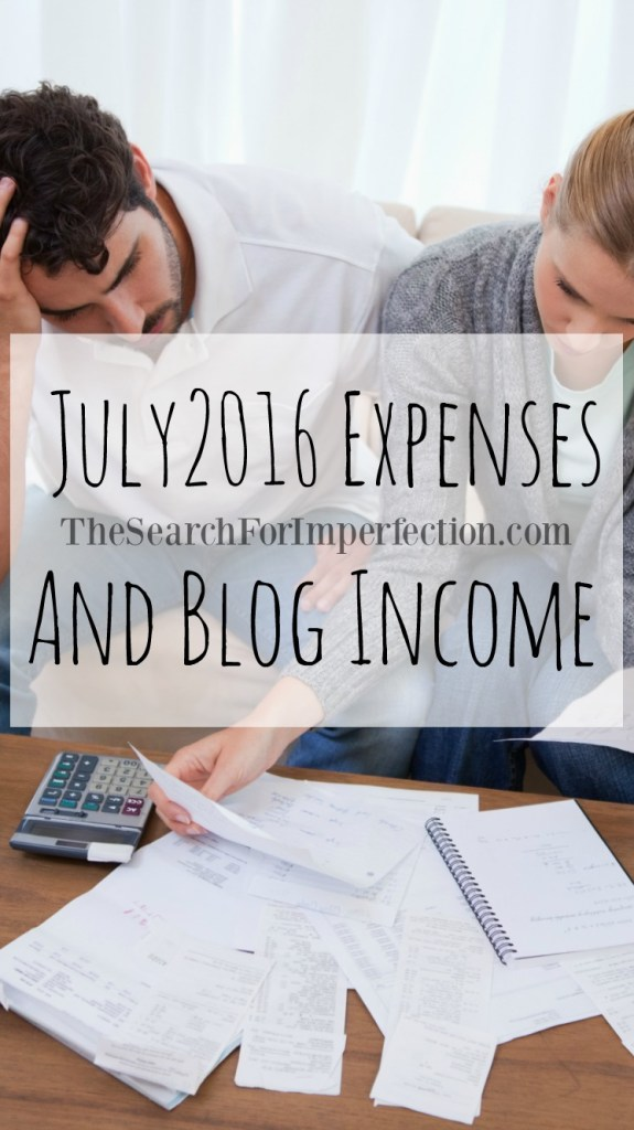 July 2016 Expense and Blogging Income Report