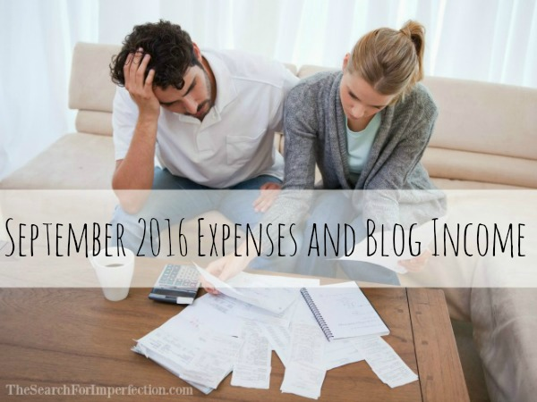 September 2016 Expenses and Blog Income Report