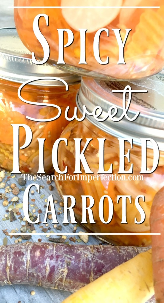 These spicy and sweet pickled carrots from the garden are the best condiment for ANY food!