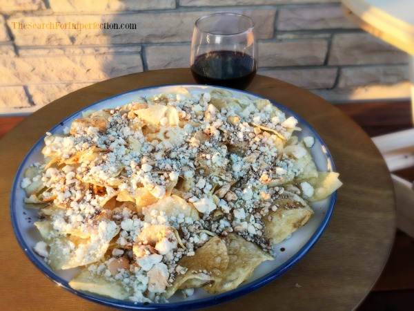 Smoked Blue Cheese Balsamic Nachos