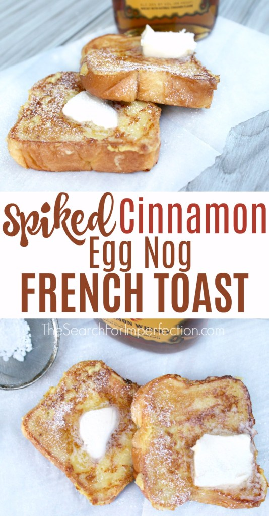 This would be the perfect holiday breakfast or brunch. Cinnamon eggnog French toast, so decadent!