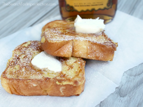 Spiked Cinnamon Eggnog French Toast