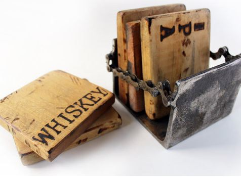Reclaimed Wood Coaster Set