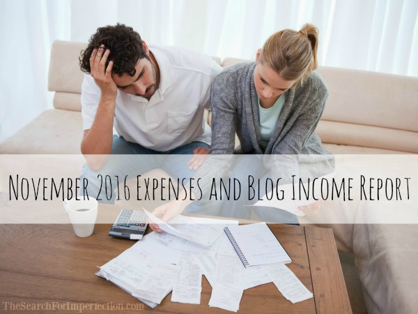 November 2016 Expenses and Blog Income Report