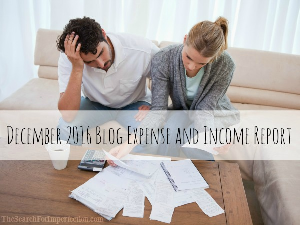 December 2016 Blog Expense and Income Report