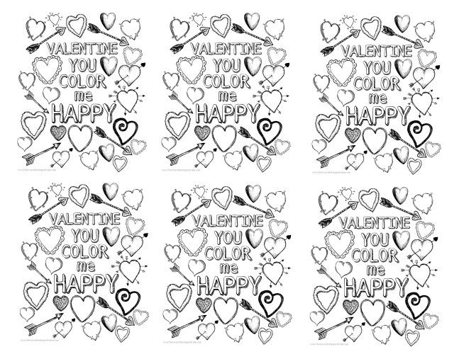 Valentine Printable Coloring Page