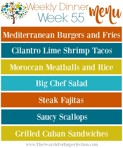 Weekly Meal Plan, Week 55