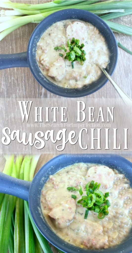 Try this delicious white bean sausage chili!