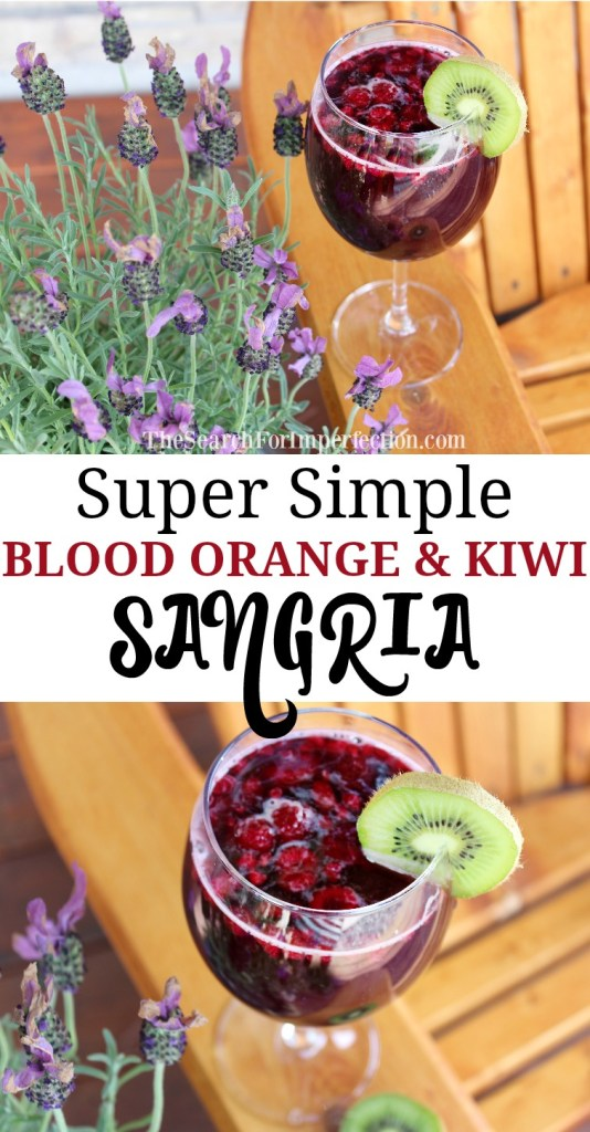 This Blood Orange and Kiwi Sangria is amazingly simple, but is so refreshing!