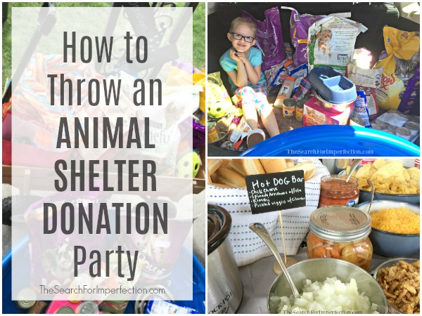 How to Throw an Animal Shelter Donation Party