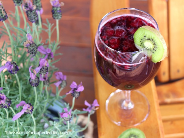 Blood Orange and Kiwi Sangria