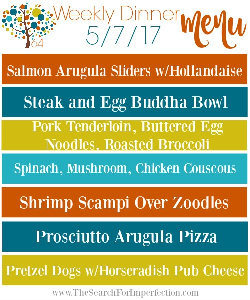 Weekly Meal Plan 5/7/17