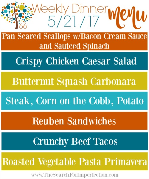 Weekly Meal Plan 5/21/17