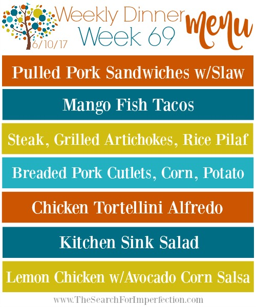 Weekly Meal Plan #69