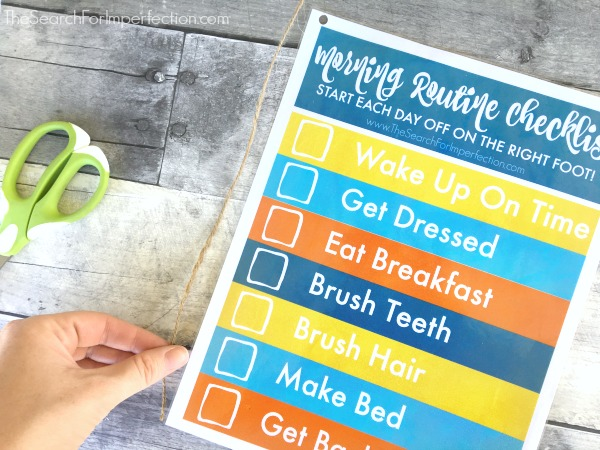 DIY Dry Erase Morning Routine Checklist