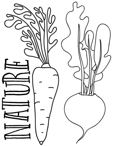 Nature Veggies Printable