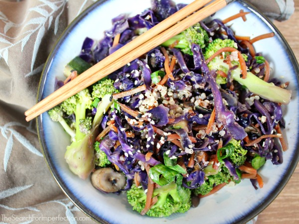 Garlic Ginger Quinoa and Vegetable Stir Fry