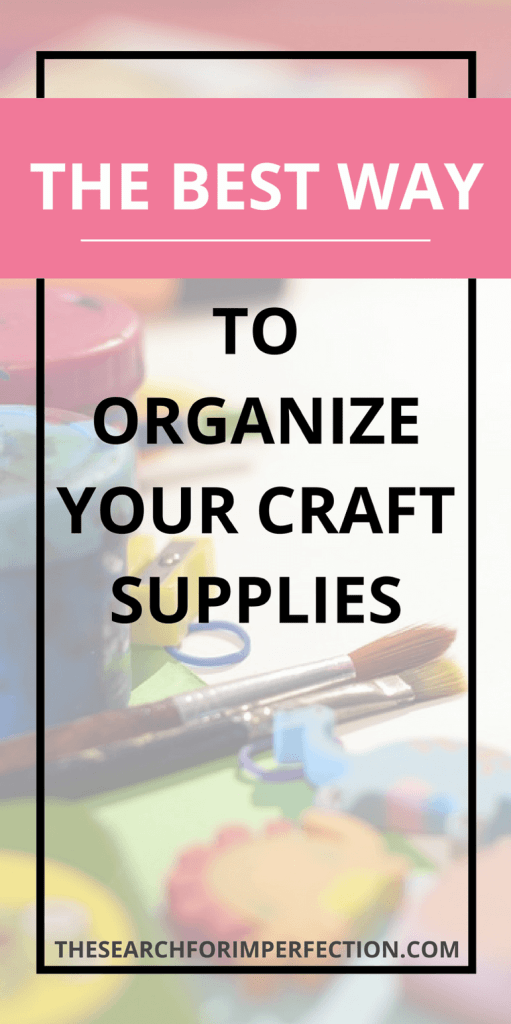Check out these awesome tricks, they're absolutely the best way to organize your craft supplies! #organization #craftsupplies #howtoorganizecraftsupplies
