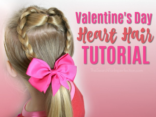 Valentine's Day Heart Hair Tutorial – Quick and Easy Hairstyle in Under 10 Minutes
