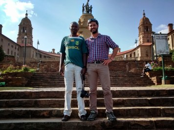 I ventured across to the Union Buildings where I was met by some determined photographers who were eeking out a living taking photos with digital cameras and then printing the photos on portable printers.