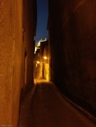 Pathway at night in Narbonne.