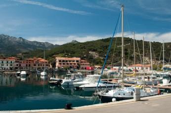 The inner harbor at Marciana Marina.