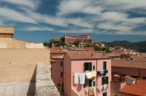 Clouds painted on the sky above Portoferraio.