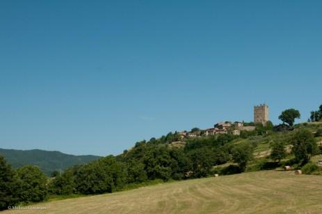 Porciano and the Castello di Porciano.