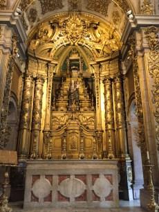 The church altar.