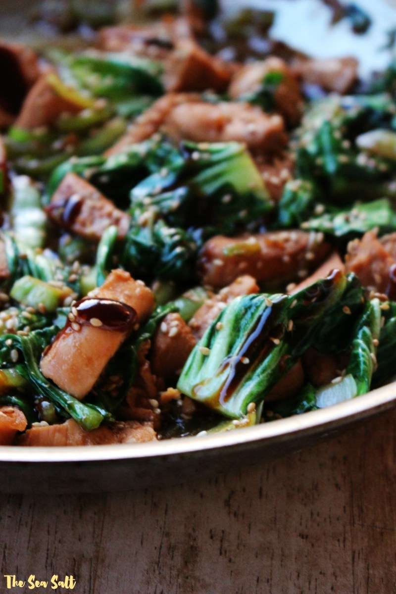 Spicy Ginger Chicken and Bok Choy Stir Fry
