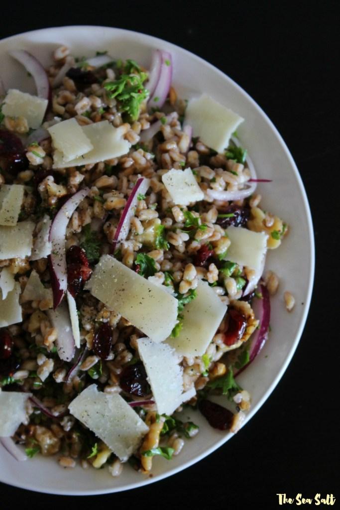 Farro Salad with Walnuts, Parmesan and Cider Vinaigrette