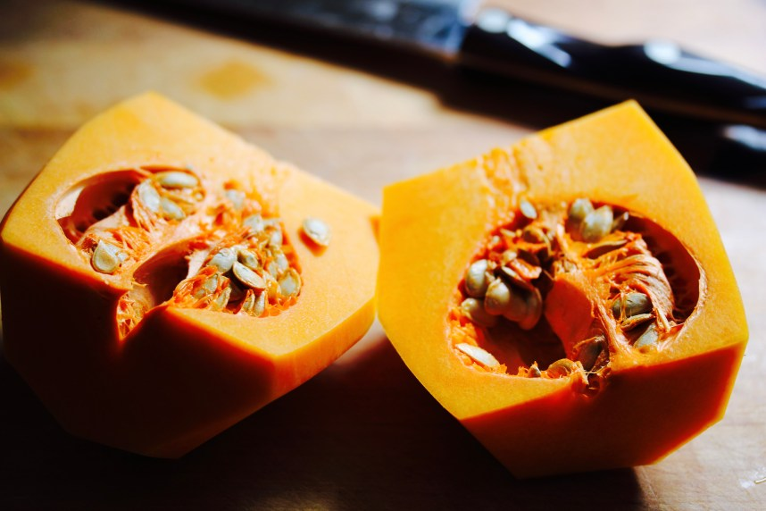Golden Butternut Squash and Sweet Potato Soup with Red Lentils