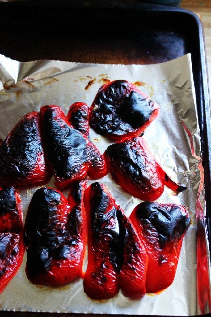 How to Roast Peppers and Red Pepper Dip