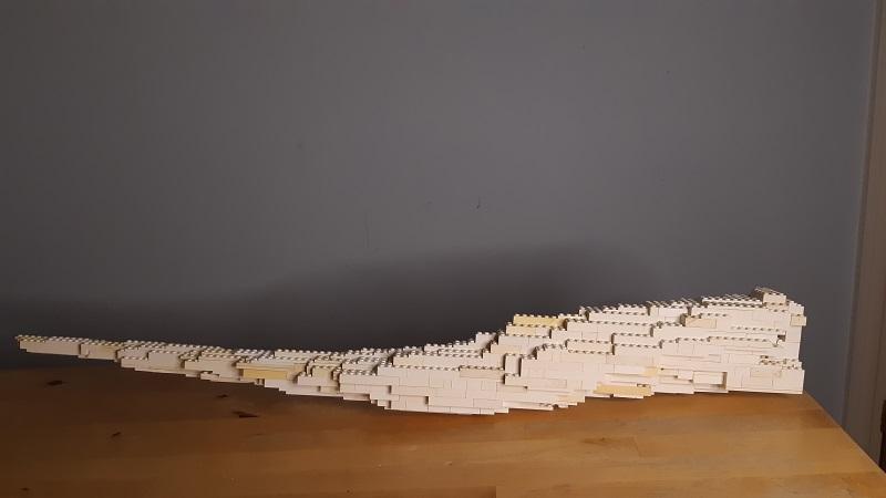 Tusk Made of Lego