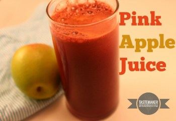 Pink apple juice