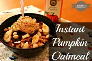 Instant Pumpkin Oatmeal